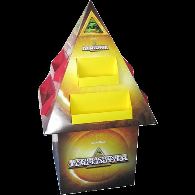 Bodendisplay Pyramide mit Sockel