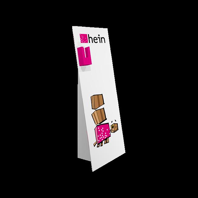 Pappaufsteller MINI 0,55×1,25 m mit Dispenser hoch