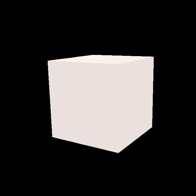 Dekowürfel weiß unbedruckt 200x200x200