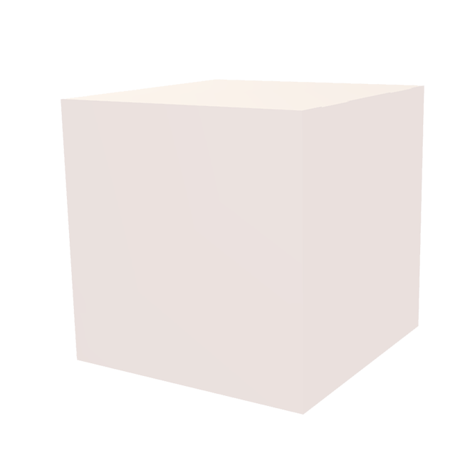 Dekowürfel weiß unbedruckt 450x450x450