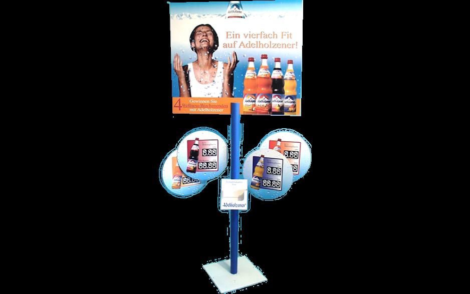 Getränkeschild mit Mobile