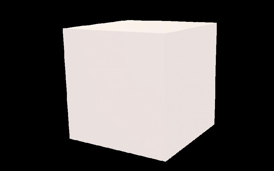 Dekowürfel weiß unbedruckt 500x500x500