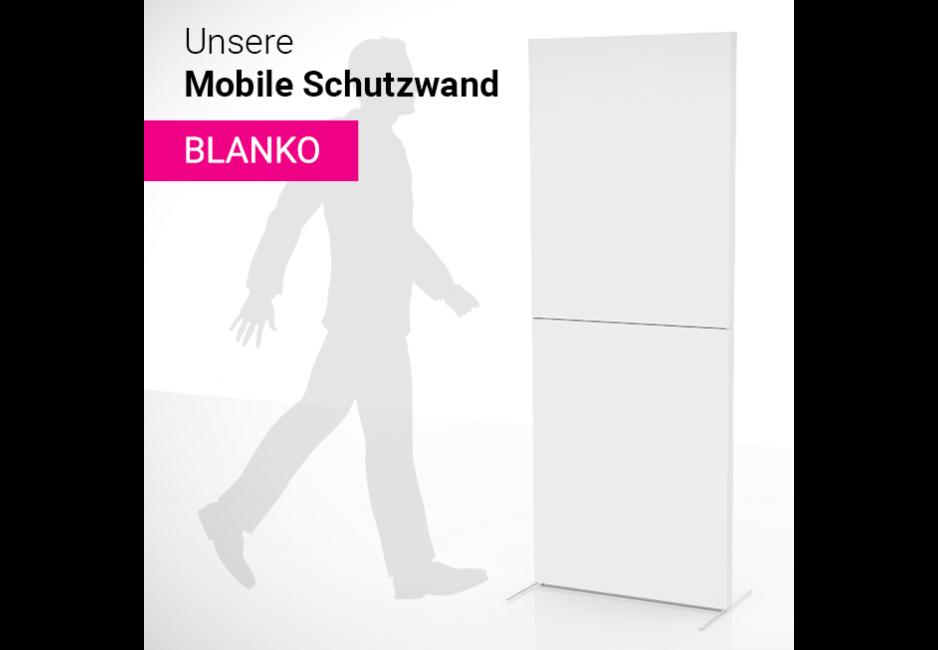 Mobile Schutzwand blanko