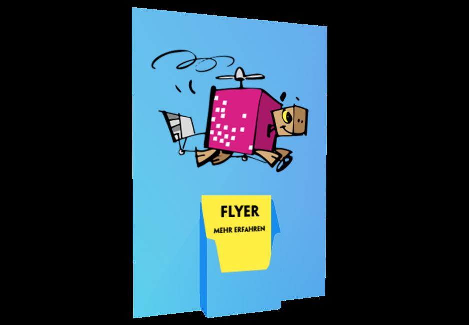 Flyerhalter DIN A3 für Flyer A5 / DIN lang (hoch)