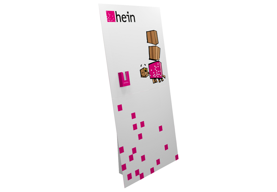 Pappaufsteller XXL 1,00×2,00 m mit Dispenser hoch