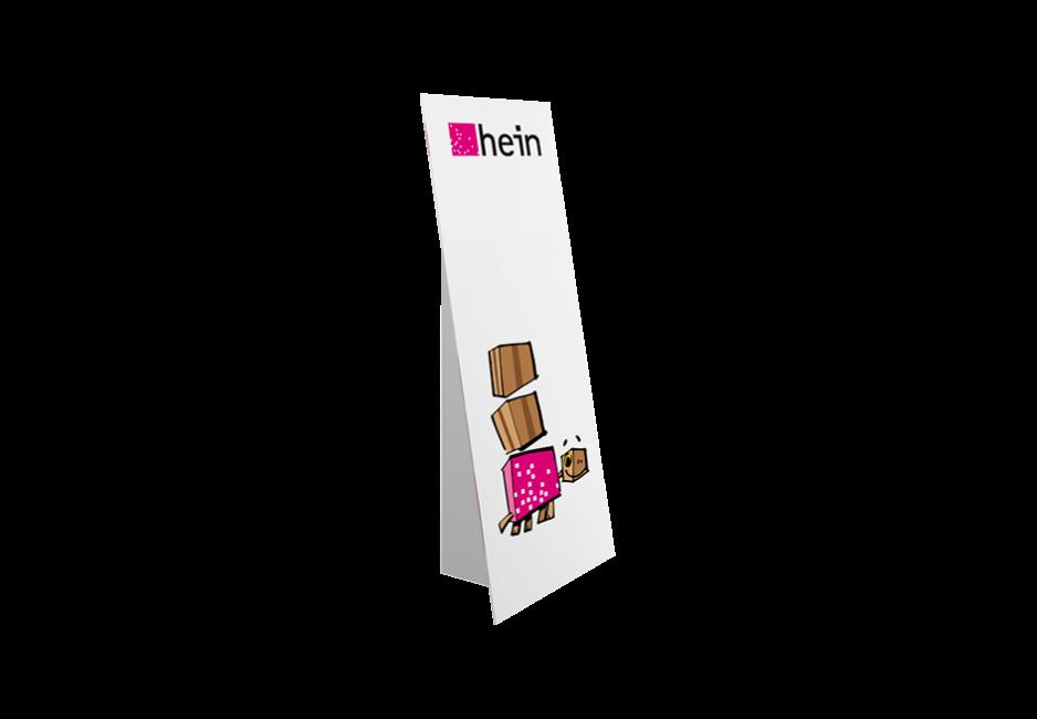 Pappaufsteller MINI 0,55×1,25 m