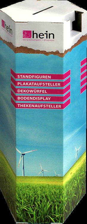 Lossäule mit integriertem Postkartenhalter