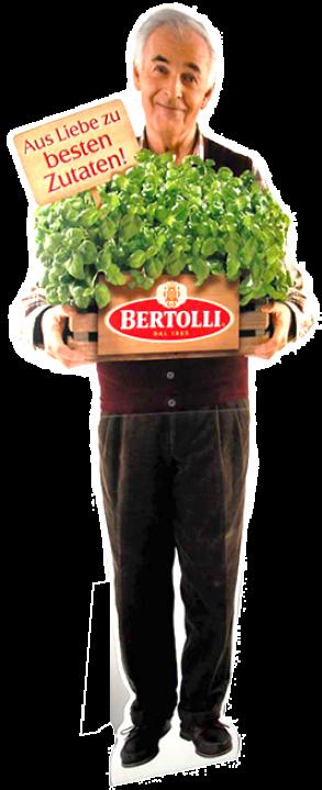 Pappfigur Lebensmittelbereich