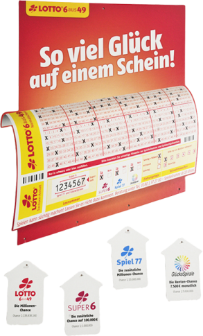 Aktions-Deckenhänger-Plakat