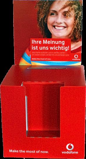 Einwurfbox für Gewinnkarten