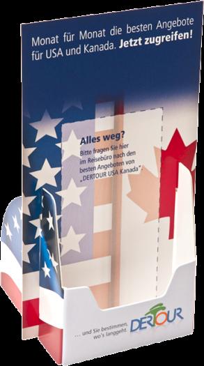 Halter für DIN lang Flyer oder Postkarten