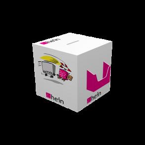 Losbox 200×200×200 mit Dispenser quer